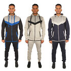 Mens Fleece Hoodie Top Trackies Jogging Full Set Joggers Gym Tracksuit Bottoms