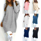 Casual Loose Long Sleeve Sweater Women's V-neck Knitwear Long Pullover Jumper