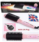 2 In 1 Auto Electric Hair Straightener Brush Curler Comb Salon Tool Massager New