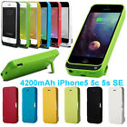 4200mah External Power Bank Charger Pack Backup Battery Case For Iphone 5s 5c Se