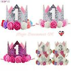 1st 2nd Birthday Crown Hat Cake Smash Baby Girls outfit Party Photoshoot kids UK