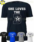 Dallas Cowboys She Loves The D 4 Dak Prescott Jersey Tee Shirt Men Size S 5XL