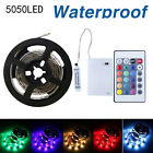 0.5/1/2M 5V 5050 RGB LED Strip Light Color Changing Controller Battery Powered