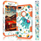 Elephant Patterned Hybrid PC Rubber Tough Armor Case For Apple iPhone 7 / 7 Plus
