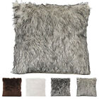 "18"" Fur Plush Throw Pillow Case Home Decor Sofa Cushion Case Cover US STOCK Z image"