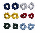 Girls Hair Tie Scrunchies for Pony Tails School Uniform Colours Set of 2 New