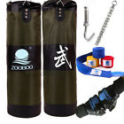 "39"" Punching Bag with Chains Gloves Set Sparring MMA Boxing Training Heavy Duty"
