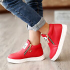 US Childrens Kids Boys Girls Casual Martin Ankle Boots Stars Zipper Shoes Size