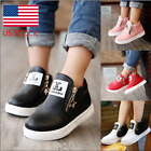 US Childrens Kids Boys Girls Casual Martin Ankle Boots Stars