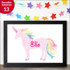 PERSONALISED UNICORN Word Art Gift Special Birthday Gift for Children Christmas