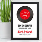 First Dance Record Print - 2nd Cotton Anniversary Gift - Second Wedding Gift