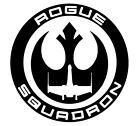 Star Wars Rogue Squadron Symbol Vinyl Decal car window laptop cellphone tumbler $2.5 USD