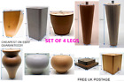 4x WOODEN FURNITURE LEGS/FEET MAHOGANY NATURAL PINE - SOFA, CHAIRS, SETTEES ETC