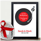 First Dance Record Print - 30th Pearl Anniversary Gift - Thirtieth Wedding Gift