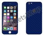 Apple iPhone 6/6s 6 Plus/6s Plus Exclusive Dark Blue Carbon for Front Back