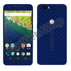 Nexus 6 Nexus 6P Exclusive Dark Blue Carbon Skin for Front Back