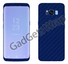 Samsung Galaxy S8 S8 Plus Exclusive Dark Blue Carbon Skin Front Back