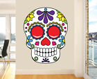 Colourful Decorative Skull Wall Art Vinyl Stickers Sugar Day of the Dead Decal