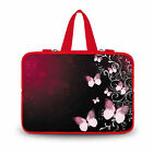 """12"""" Laptop Butterfly Sleeve Case Bag With Color Handle For MacBook Air 11"""" 11.6"""""""