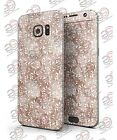 Samsung Galaxy S7/S7 Edge BROWN AND WHITE FRACTAL PATTERN  Printed Skin