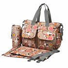 ECOSUSI 4 Pieces Set Diaper Tote Changing Bag with a Shoulder Strap New
