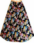 vintage women, long, stretchable, flared skirt with inner lining