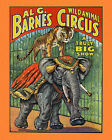 BARNES CIRCUS Ca 1925 Lithograph Poster Expertly Restored Preserved