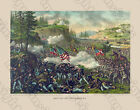 BATTLE OF CHICAKAMAUGA 1890 Civil War Lithograph Expertly Restored Preserved