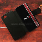 N7 mass effect Wallet iPhone cases N7 Samsung Wallet Leather N7 Phone Case
