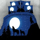 Moon Wolf Doona Duvet Quilt Cover Set Single Queen King Size Animal Bed Covers