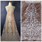 New Off white high quality wedding style ployester embroidery lace fabric 1yard