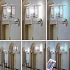 1x- 2x- LED exterior wall lanterns RGB remote control terrace dimmer lights IP44