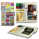 For alcatel Pop D5 - Clip Printed Series PU Leather Wallet Case