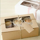 2/4/6 Holes Kraft Paper Cupcake Packing Box Snacks Muffin Party Case DIY 3 Sizes