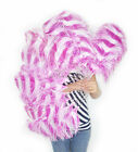 "A pair of mix pink single layer Ostrich Feather Fan 24""x 41"" with packaging"