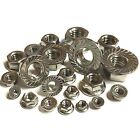M3 M4 M5 M6 M8 M10 12 Serrated Flange Nuts Suit Metric Screws A2 Stainless Steel