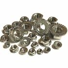 3mm 4mm 5mm 6mm 8mm 10mm 12mm Hexagon Serrated Flange Nuts A2 Stainless Steel