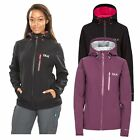 DLX Edin Womens DLX Waterproof Soft Shell Jacket in Black & Purple