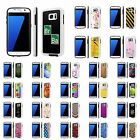 For Samsung Galaxy [S7] Shock Absorbent Dual Armor Case [Screen Guard]Design [N]