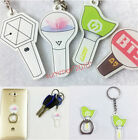 KPOP EXO Seventeen BTS GOT7 Light Stick Phone Stand Holder Finger Ring Keychain