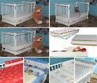8-PCS NURSERY SET INCL 6-PCS BEDDING DRAWER BABY JULIET COT BARRIER MATTRESS