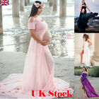 Slit Pregnant Womens Maxi Dresses Maternity Gown Photography Props Photo Shoot
