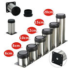 4x Adjustable Cabinet Legs Stainless Steel Kitchen Feet Round Stand Holder New