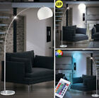 RGB LED Bow Floor Lamp Remote Control Living Room Chrome Reading Lamp dimmable