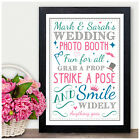 PERSONALISED Wedding Photo Booth SIGN - Photo Booth Grab A Prop Sign Party
