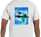 Dry Blend UPF Marlin Mahi Dolphin Short Sleeve Microfiber T-Shirt Athletic Fit