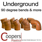 Underground Drainage 110mm Soil Fittings - 90 degree bend (plus 15,30 & 45)