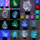3D illusion LED Night Light 7 Color Touch Switch Table Desk Lamp Christmas Gifts