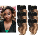 6pcs 8'' 7A Fumi Spring Curl Human Hair Extensions Weave Ombre 50g pc Full head