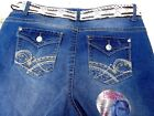 Wallflower Luscious Curvy Plus Size Denim Delux Belted Flap Pocket Shorts 16,24W